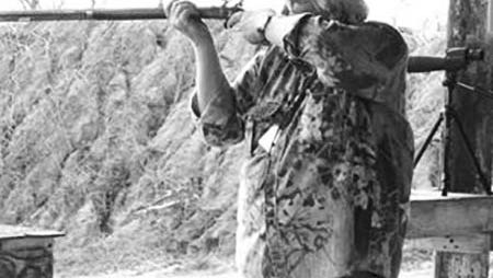 Bill Ridout competes and hunts using traditional blackpowder muzzleloaders.