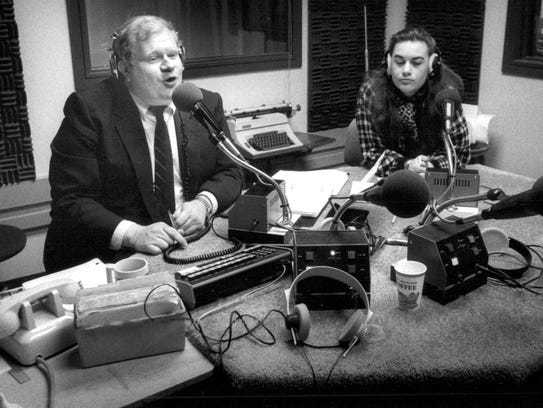WXXI Radio host Bob Smith during his talk show with