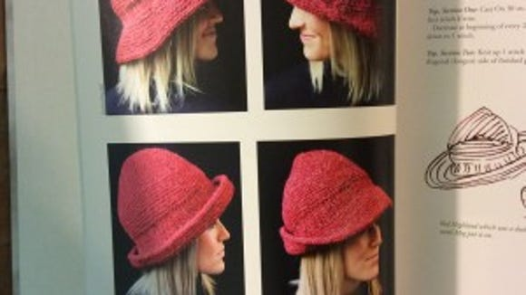 Here are four views of the same Elizabeth Zimmerman horizontal brim hat. Wouldn't it be a good chemo cap?