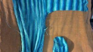 I love the Ultra Pima yarn I'm using to make this sweater.
