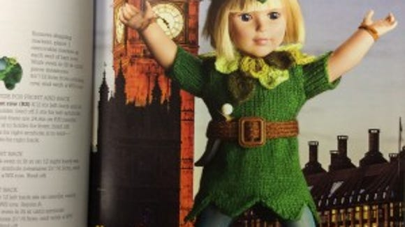 This Peter Pan outfit would be perfect for my Mme. Alexander doll with the blond bobbed wig.