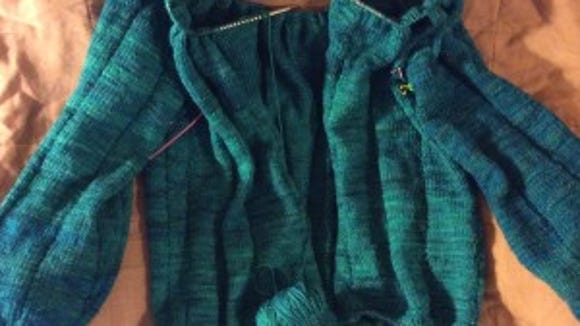Still inching toward the lace on the Zephirine cardigan.
