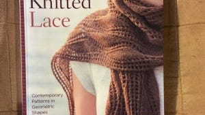 "Brooke Nico has a new book,""More lovely knitted lace."""