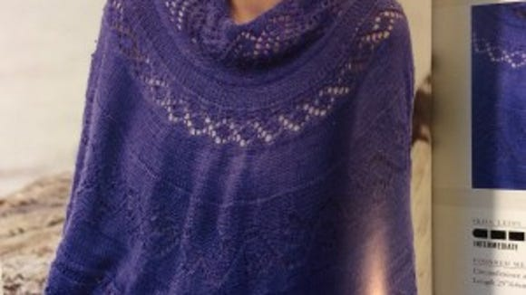 I love this DeBauliver poncho, which I would wear as an outer garment.