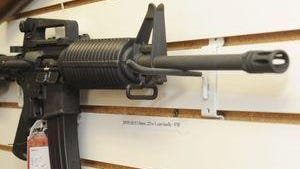 An AR-15 semi-automatic rifle is shown in this file photo.