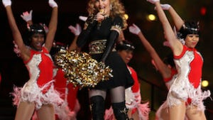 Madonna, at the half.