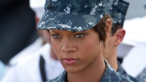 Yes, Rihanna is in Battleship.