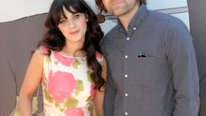 A July 2011 file photo of actress Zooey Deschanel, left, and her husband, musician Ben Gibbard. Deschanel filed for divorce from Death Cab for Cutie lead singer Ben Gibbard on Dec. 27 in Los Angeles.