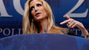 Conservative author and pundit Ann Coulter delivers remarks to the Conservative Political Action Conference (CPAC).