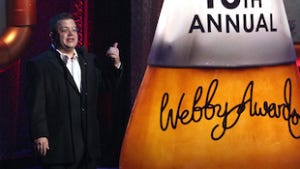 Host Patton Oswalt at the 16th Annual Webby Awards at Hammerstein Ballroom on May 21, 2012 in New York City.