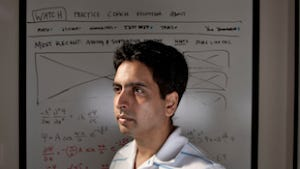 Salman Kahn, 34, the founder of Kahn Academy is shown at his Mountain View, Calif. office, May 14, 2012.