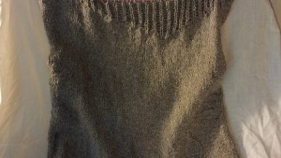 Someone asked me if this sweater is black. No, it's a very taupy tan, but the shadows make it look black, don't they?