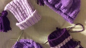 I have made hats and have two more on the needles.