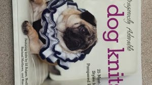 "If you pamper your pooch, ""Outrageously adorable dog knits"" is for you."