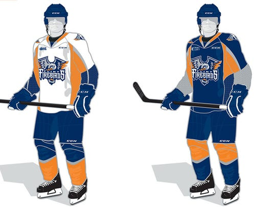 Flint Firebirds uniforms