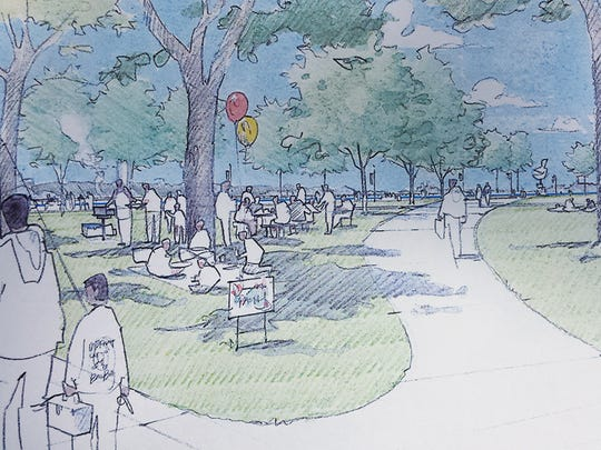 Riverside Park concept plan