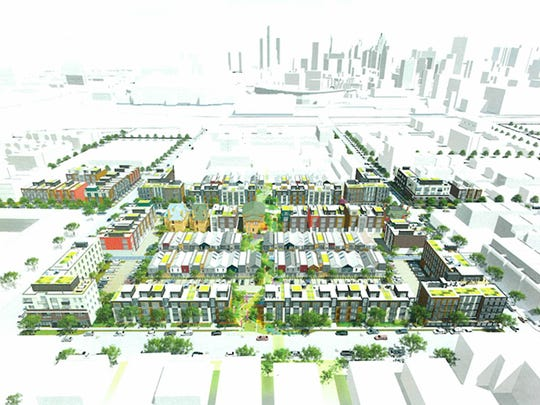 The Brush Park neighborhood development plan includes