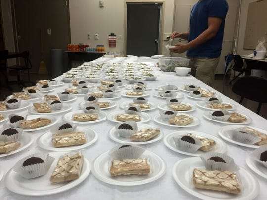 The free Russian-inspired lunch was provided to students