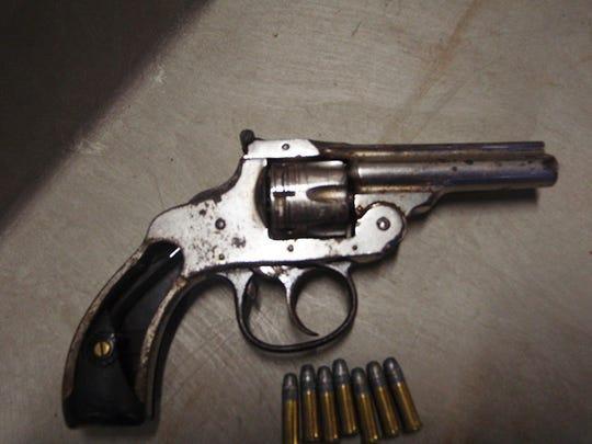.22 caliber revolver seized in arrest of Justin Marrero