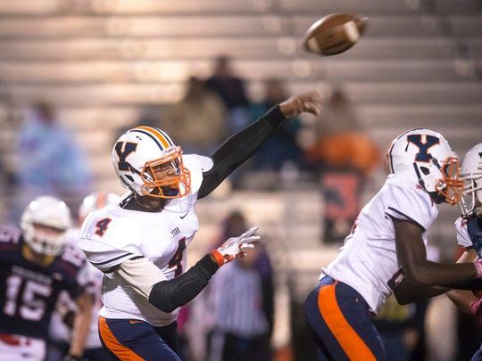 William Penn's Justin Colston attempts a pass during a regular-season game. Several former players, current players and alumni say that there is a clear disconnect between the Bearcats' coaching staff and players, and fixing that should be a top priority.