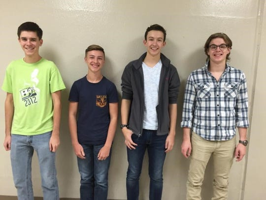 Four Nixa High School students were selected for the