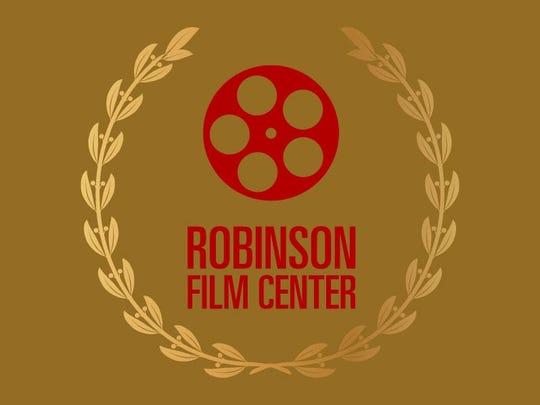 Robinson Film Center Logo on Gold background with laurel wreath
