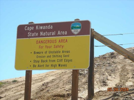 Signs at Cape Kiwanda are set to keep people from falling off the cliffs above the ocean. However, many disregard them, leading to fatal accidents.