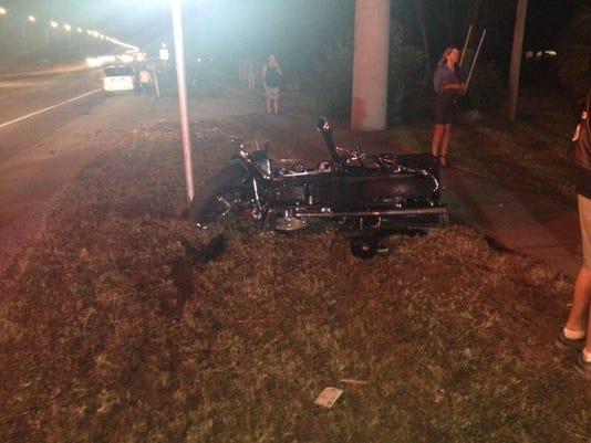 Palm Shores motorcycle crash