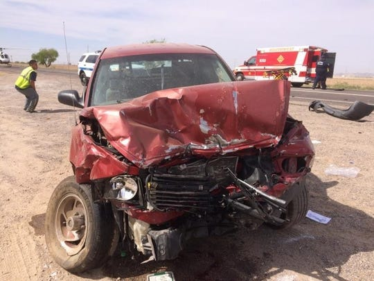 One of the cars from the fatal two-collision crash