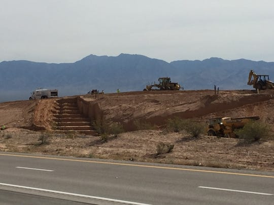 Work continues in Mesquite at the site of Exit 118.