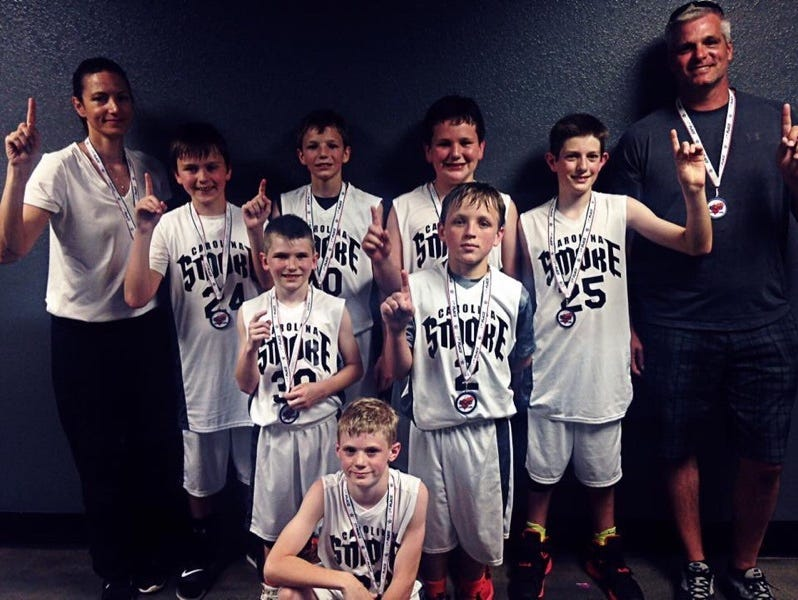 The Carolina Smoke fifth grade boys basketball team won its age division at the Twin Cities Classic last weekend in Asheville.