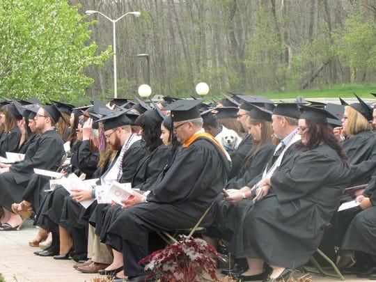 677 students graduated Saturday during Corning Community