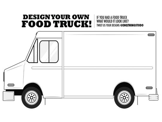 Print this out and design your own food truck.