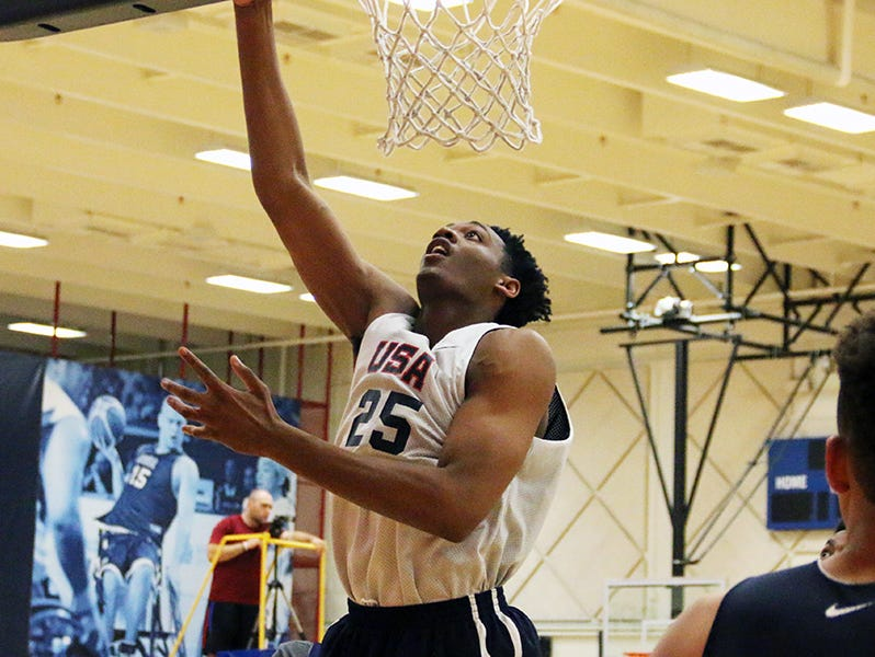 Auburn five-star commit Austin Wiley (25) makes the 12-man Team USA Under-17 roster for the FIBA World Championships.