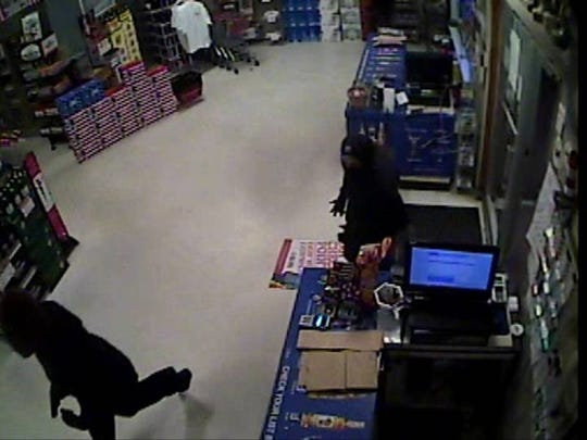 State police are searching for two men who robbed an Ocean View area business Monday night.