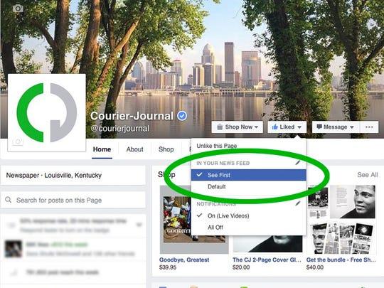 Facebook Desktop - See First