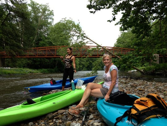 Spend a day kayaking on the Swatara Creek without the