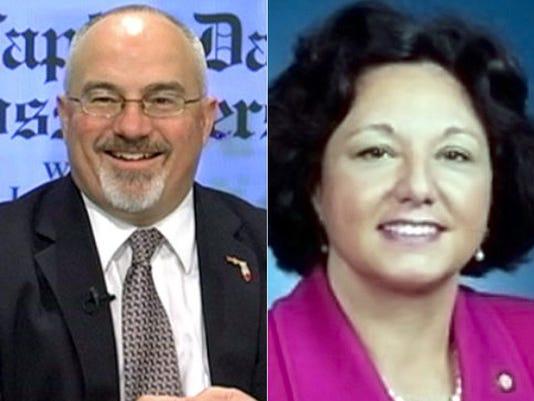Matt Hudson and Kathleen Passidomo