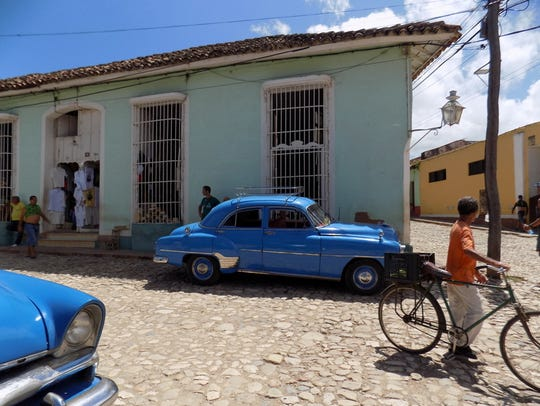 A view of Trinidad, a town in the province of Sancti