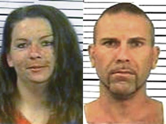 Veronique Henry, left, and Paul Henry were accused in a double-homicide at a Fawn Township home Sept. 13. The wife took her life in prison following her arrest.