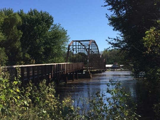 The historic Sutliff Bridge is seen on Monday, Sept.