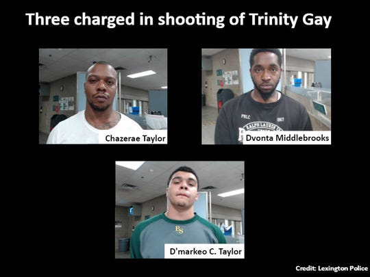 Three people charged in the fatal shooting of Trinity