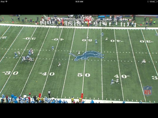 Frame grab from NFL Game Rewind