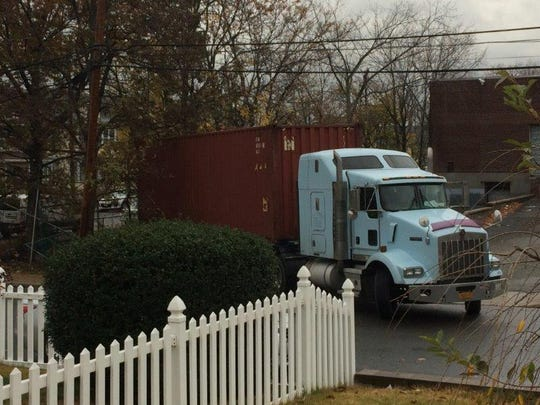 Residents of Federal Street, Clifton, complain about truck traffic to a nearby warehouse.