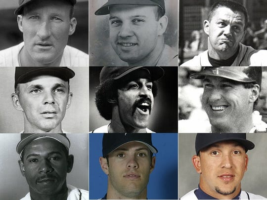 Name these Detroit Tigers, row by row