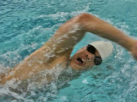 Senior Nur Duarte was a member of Harrison Farmington's winning 400-yard freestyle relay foursome.