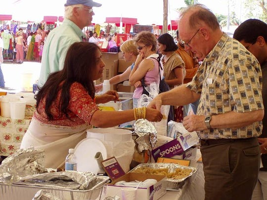 The festival, now in its 30th year, features authentic Indian cuisine.