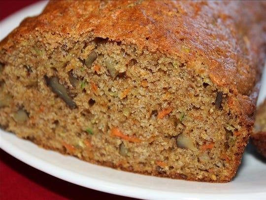 Zucchini Bread With Carrots
