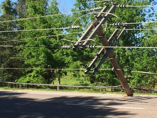 Power lines on Clinton Highway