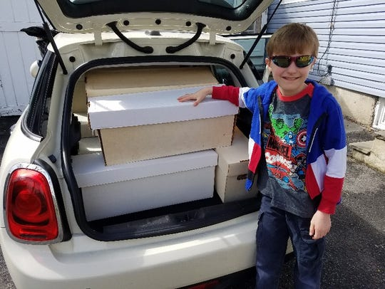 The eight boxes of donated comic books to the military